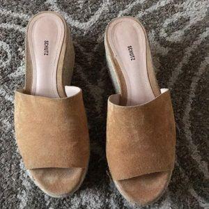 Thalia Suede Espadrille Platform Sandals